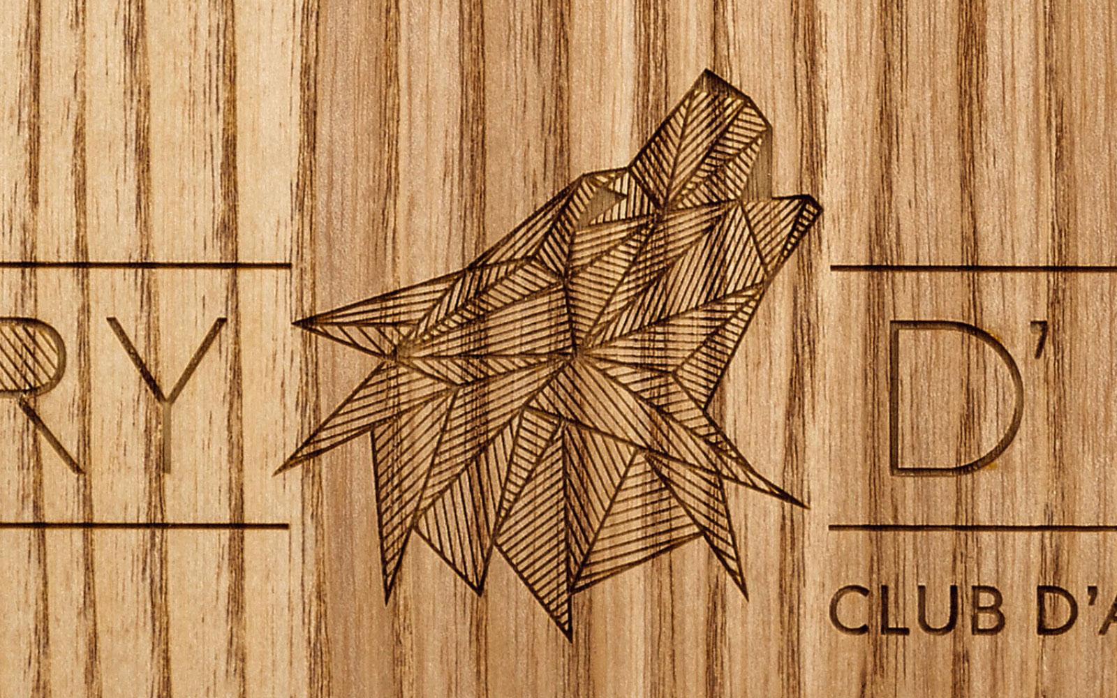 Speisekarten aus Holz