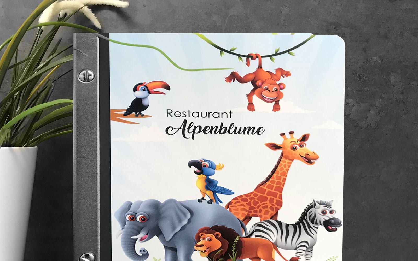 Premium Menuette Showcase Kinderkarte