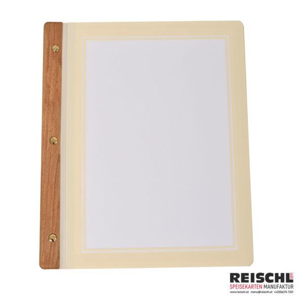 Rustica A4 - Schiene Holz mittel - Transette Elfenbein